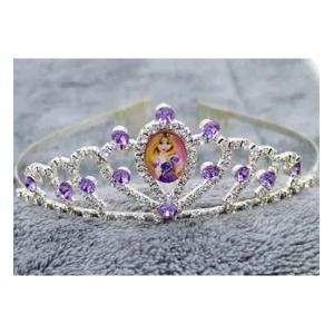Cartoon Childrens Role Playing Hair Accessories Purple Princess Crown-HV