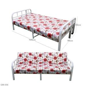 Multifunction Sofa With Bed Metal Frame Red GM558-r-HV
