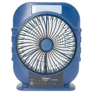 Clikon CK2361 8-Inch 1500mAh Rechargeable Fan With LED-HV