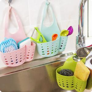 Portable Hanging Drain Basket for Home and Kitchen, Assorted Color-HV