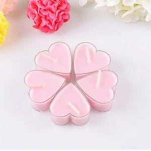 Heart Shaped Scented Candle Pink-HV