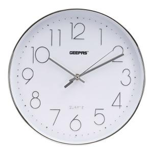 Geepas GWC26011 Wall Clock With 3D Silver Dial-HV