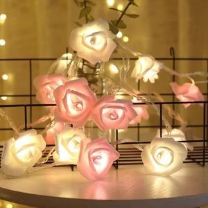 Most Selling Rose Flower LED Decorative String Lights 2Pcs-HV