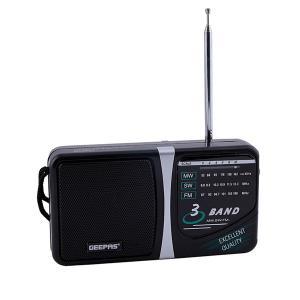 Geepas GR6821 3 Band Radio  Am/Sw/Tv/Fm Portable Radio-HV