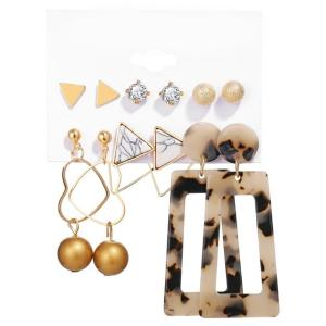 SIGNATURE COLLECTIONS Bohemian Style 6 Pairs Ear Rings-HV