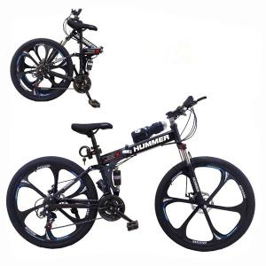 Aluminium Hummer 24 Inch Bicycle Black GM52-bl-HV