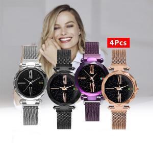 Stylish Magnetic Watch (4 PCS)-HV