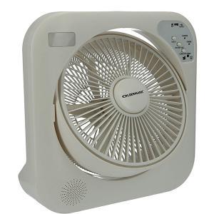 Olsenmark OMF1751 12 Inch Rechargeable Box Fan, White-HV