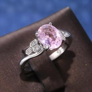 SIGNATURE COLLECTIONS SGR006 Lovely Princess Pink Ring-HV