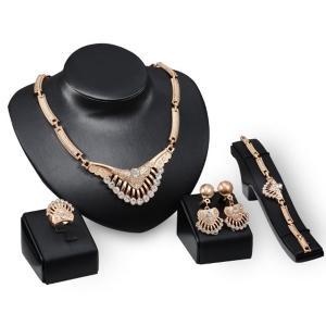 High Quality 4 in 1 Women Fashion Jewelry Set-HV