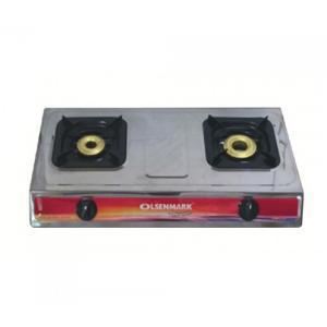 Olsenmark OMK2230 Double Burner Stainless Steel Gas Stove-HV