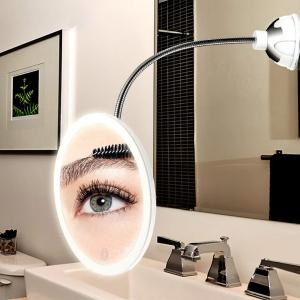 LED 10X Magnifying Makeup Mirror With Lights-HV