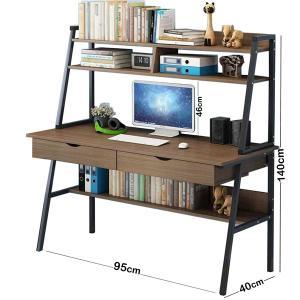 Strong Computer Desk With 3 Shelfs Brown GM549-3-br-HV
