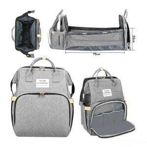 2 In 1 Diaper Bag Grey GM276-3-grey-HV
