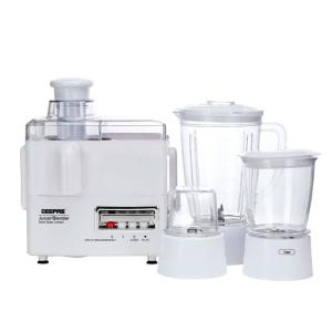 Geepas GSB5439 4 In 1 Multi Function Food Processor Electric Blender Juicer, 2-Speed With Pulse Function & Safety Interlock 500w-HV