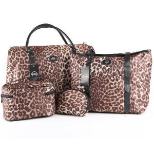 4 IN 1 Combo Okko Trolley Bag Cheetah print-HV
