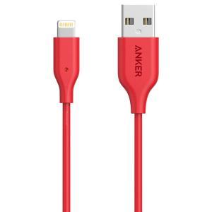 Anker A8012H91 PowerLine + USB Cable Lightning (3ft) Red-HV