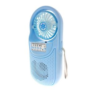 Portable Rechargeable Speaker With Fan (CH-F306), Blue-HV