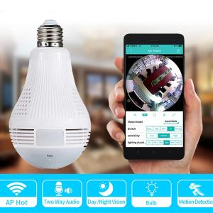 Loosafe 360 Degree Panoramic View Bulb Wifi Security Camera-HV