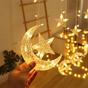 2021 Amazon Hot Selling Star Inside Moon LED Decorative Lights Warm White 3.5m -HV