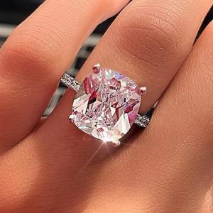 SIGNATURE COLLECTIONS 4 Claw Ultimate Zircon Shining Ring SGR016  -HV