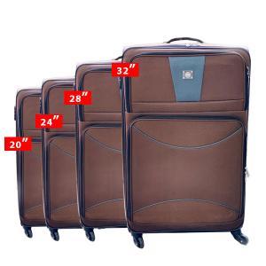 QTS Travelling Trolley 4pcs, Brown-HV