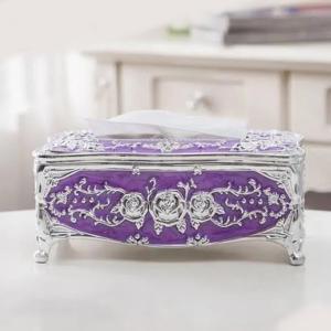 European Style Light Luxury Acrylic Tissue Box Purple-HV