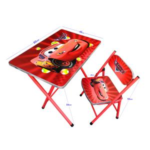 Childrens Folding Study Table And Chair Red Multicolor GM527-rmc-HV