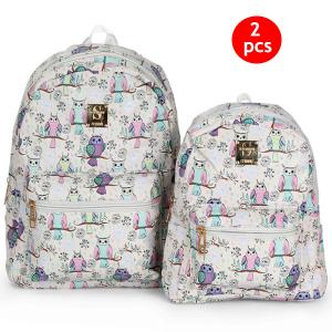 2 IN 1 Combo 10-Inch And 13-Inch Okko Mochila Backpack GH-179- White-HV