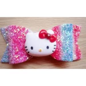 Hello Kitty Shiny Bow Hairpin-HV