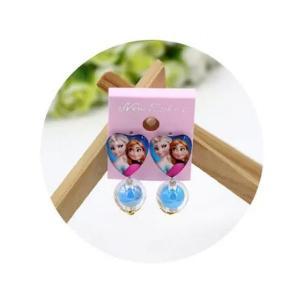 Childrens Cartoon Pierced Earrings Blue -HV