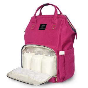 Diaper Bag Backpack and Multifunction Travel Backpack, Water Resistance and Large Capacity, Pink-HV