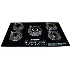 Geepas GGC31011 5 Burner Gas Stove with Tempered Glass Top-HV