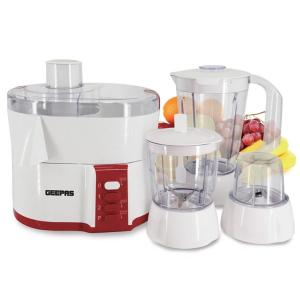 Geepas GSB9890 4 In 1 Multi Function Food Processor Electric Blender Juicer, 2-Speed With Pulse Function & Safety Interlock 600w-HV