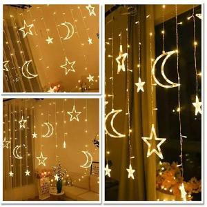 LED Star Moon Hanging Light 3.5 Meter Warm White-HV