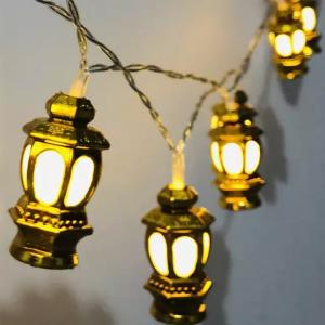 Eid Mubarak Decorative 3D Lantern LED String Lights-HV