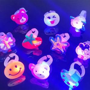 Childrens Glowing Ring Cartoon Soft Rubber Ring-HV