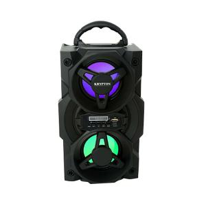 Krypton KNMS6049 Rechargeable Portable Bluetooth Speaker, Black-HV