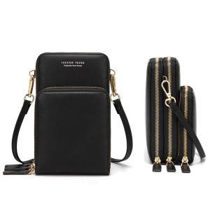 Forever Young Multifunctional Crossbody and Shoulder Bag For Women, Black-HV