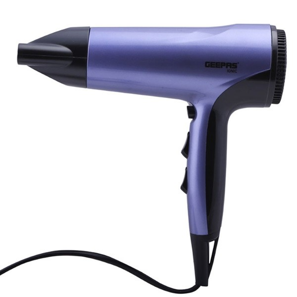 Geepas GHD86017 Hair Dryer 1800w Ionic Fast Drying With 3 Heat Settings
