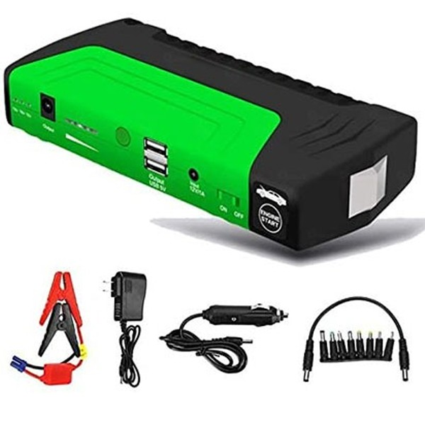 Portable Car Jumb Starter With Power Bank And Air Compressor