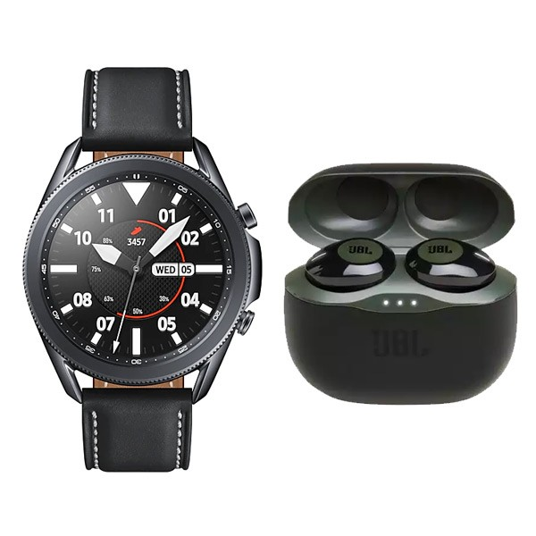 Samsung Galaxy Watch3 Bluetooth (45mm) R840 Black With Free JBL Tune 120 TWS