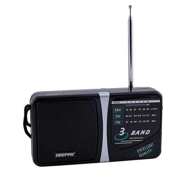 Geepas GR6821 3 Band Radio  Am/Sw/Tv/Fm Portable Radio