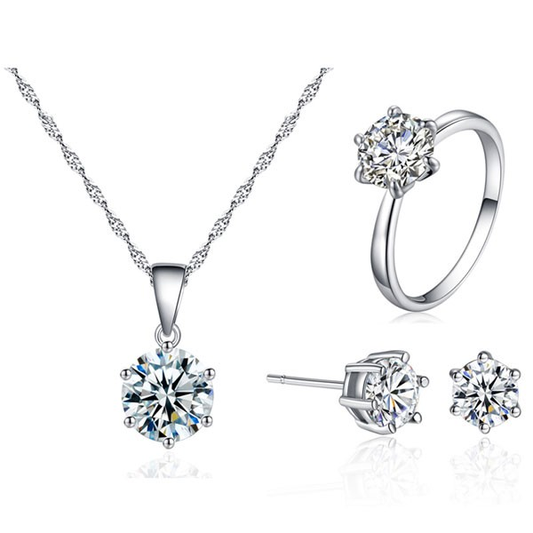 Signature Luxurious Fine Cut Zircon Jewellery Set ZR001