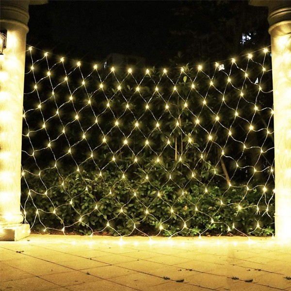 2021 Top Selling Fishnet LED decorative lights warm white with 8 modes 3.2 meters