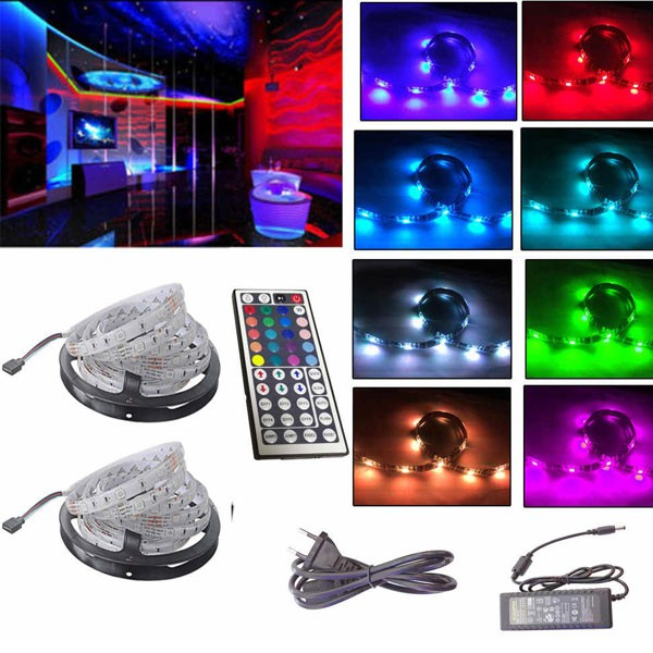 RGB Colourful LED Strip With Remote Control, 5m