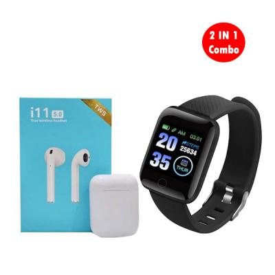 2 IN 1 Combo Smart Bracelet With i11 Twin Bluetooth Headset with Charging Case03