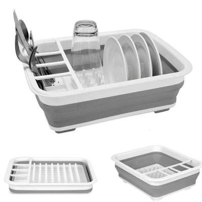 Collapsible Dish Drainer With Draining Board-LSP