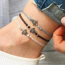 Vintage Multiple Layers Animal Rope Anklets for Women-LSP