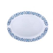 Royalford RF6104 Opal Ware Art Flower Dinner Plate, 14 Inch-LSP